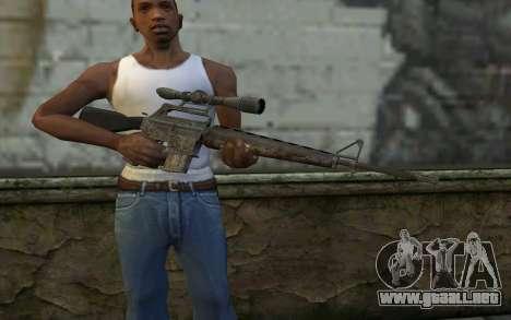 M16S from Battlefield: Vietnam para GTA San Andreas tercera pantalla