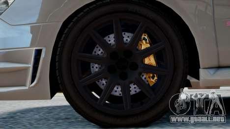 Subaru Impreza WRX STi para GTA 4 visión correcta