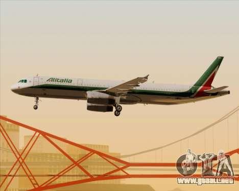 Airbus A321-200 Alitalia para las ruedas de GTA San Andreas