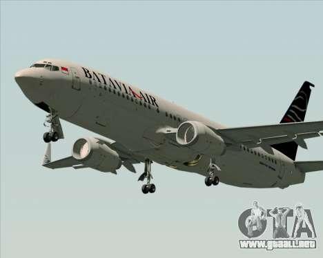 Boeing 737-800 Batavia Air para GTA San Andreas left