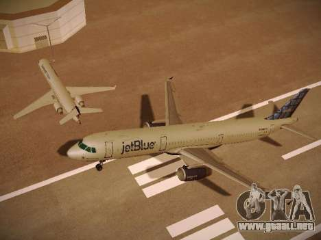 Airbus A321-232 jetBlue Blue Kid in the Town para el motor de GTA San Andreas