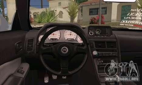Nissan Skyline R-34 SDK Style para GTA San Andreas vista posterior izquierda