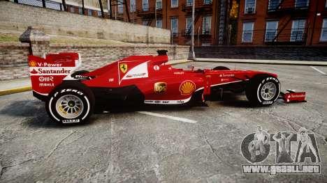 Ferrari F138 v2.0 [RIV] Alonso TMD para GTA 4 left