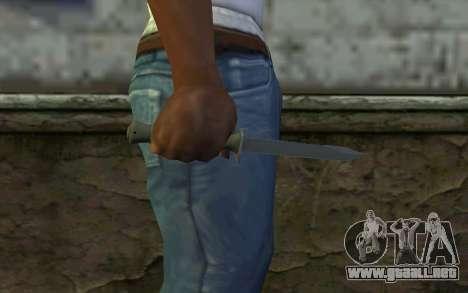 Cuchillo de combate (DayZ Standalone) v1 para GTA San Andreas tercera pantalla