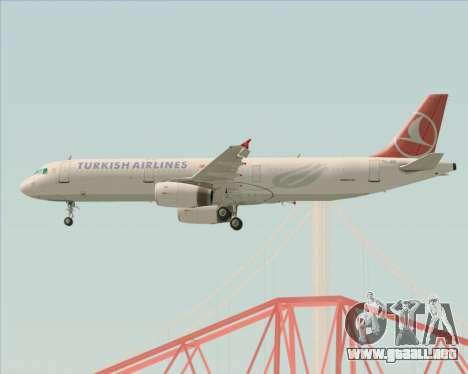 Airbus A321-200 Turkish Airlines para el motor de GTA San Andreas