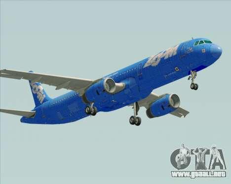 Airbus A321-200 Zoom Airlines para la visión correcta GTA San Andreas
