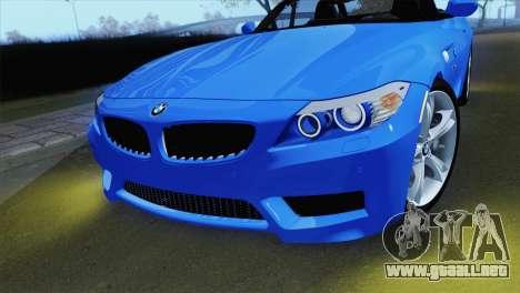 BMW Z4 sDrive28i 2012 Stock para la visión correcta GTA San Andreas