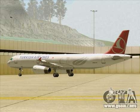 Airbus A321-200 Turkish Airlines para las ruedas de GTA San Andreas