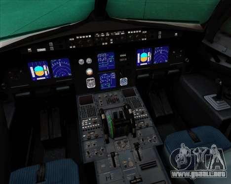 Airbus A321-200 Delta Air Lines para GTA San Andreas interior