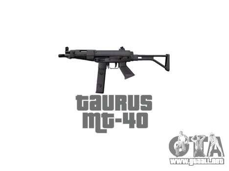 Pistola Taurus MT-40 buttstock2 icon2 para GTA 4 tercera pantalla
