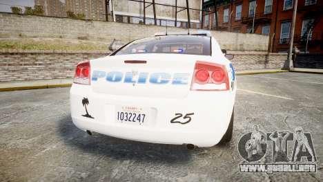 Dodge Charger 2010 PS Police [ELS] para GTA 4 Vista posterior izquierda
