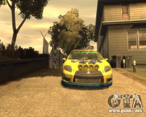 Mitsubishi Eclipse GT Rallycross para GTA 4 left