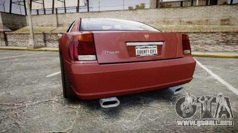 Bravado Buffalo SRT para GTA 4 Vista posterior izquierda