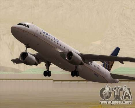 Airbus A320-232 United Airlines para GTA San Andreas