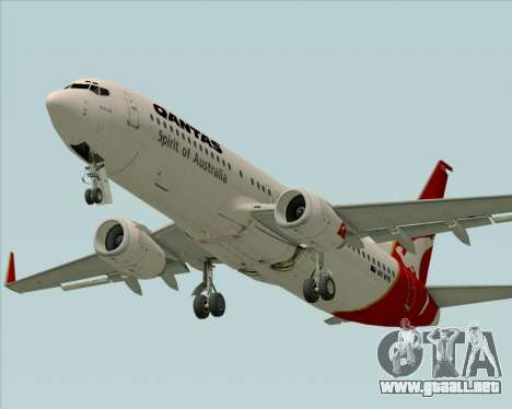 Boeing 737-838 Qantas (Old Colors) para visión interna GTA San Andreas