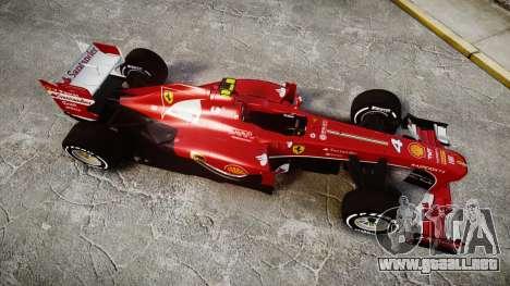 Ferrari F138 v2.0 [RIV] Massa TMD para GTA 4 visión correcta