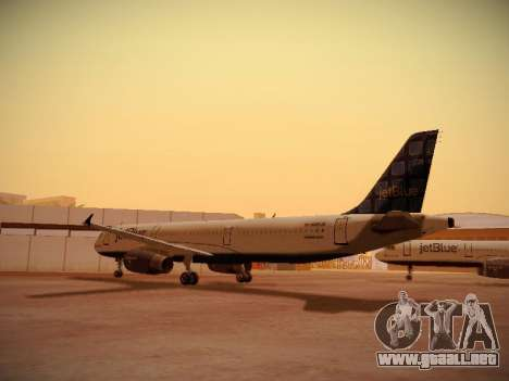 Airbus A321-232 jetBlue Blue Kid in the Town para la visión correcta GTA San Andreas