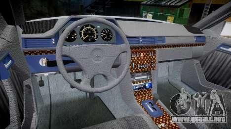 Mercedes-Benz E500 1998 Tuned Wheel White para GTA 4 vista hacia atrás