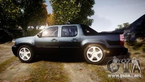 Chevrolet Avalanche 2008 Undercover [ELS] para GTA 4 left