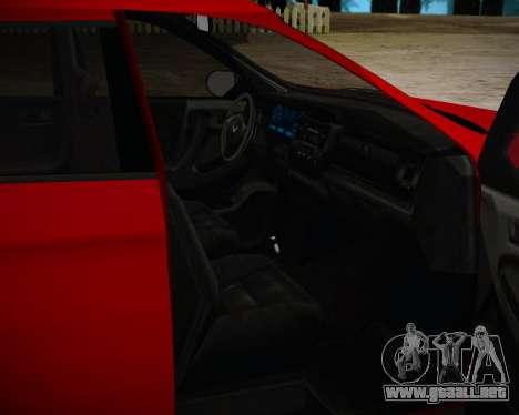 Bravado Gresley para GTA San Andreas vista posterior izquierda