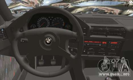 BMW M5 E34 V10 para GTA San Andreas vista posterior izquierda