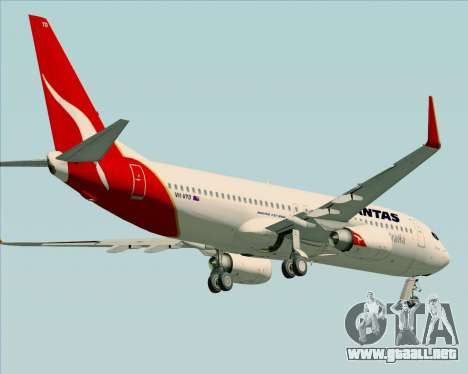 Boeing 737-838 Qantas (Old Colors) para vista inferior GTA San Andreas