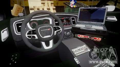 Dodge Charger 2015 LPD CHGR [ELS] para GTA 4 vista hacia atrás