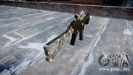 Pistola de UMP45 de Fibra de Carbono para GTA 4 segundos de pantalla
