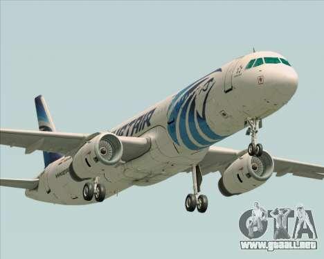 Airbus A321-200 EgyptAir para GTA San Andreas left
