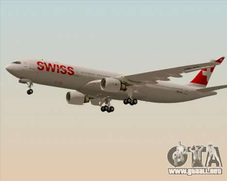 Airbus A330-300X Swiss International Air Lines para GTA San Andreas vista posterior izquierda