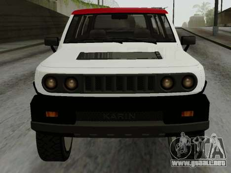 Karin BJ XL para GTA San Andreas vista posterior izquierda