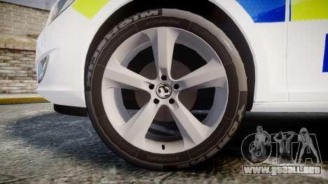 Vauxhall Astra Estate Metropolitan Police [ELS] para GTA 4 vista hacia atrás