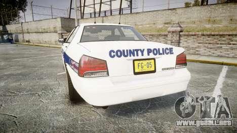 GTA V Vapid Cruiser LP [ELS] Slicktop para GTA 4 Vista posterior izquierda
