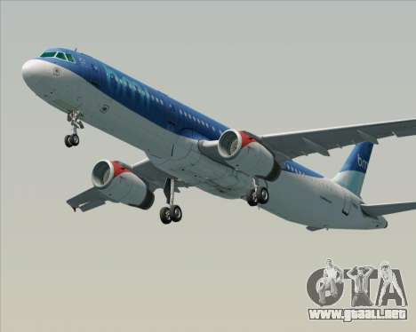 Airbus A321-200 British Midland International para vista lateral GTA San Andreas