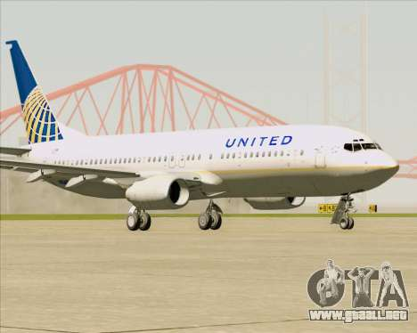 Boeing 737-824 United Airlines para GTA San Andreas left