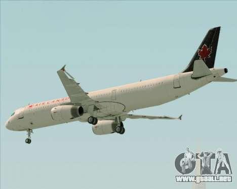 Airbus A321-200 Air Canada para la vista superior GTA San Andreas