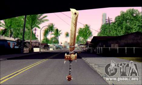 Меч (World Of Warcraft) para GTA San Andreas segunda pantalla