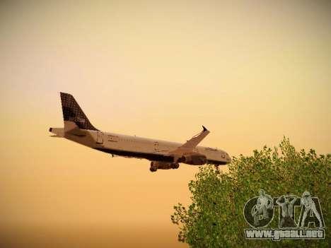 Airbus A321-232 jetBlue Woo-Hoo jetBlue para vista inferior GTA San Andreas