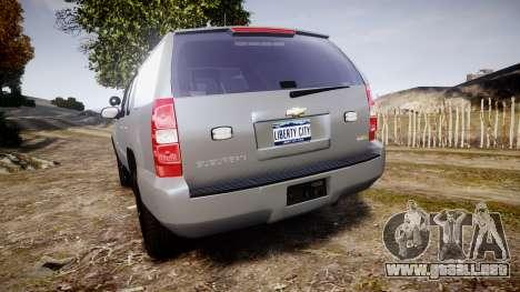 Chevrolet Suburban [ELS] Rims2 para GTA 4 Vista posterior izquierda