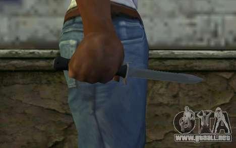 Cuchillo de combate (DayZ Standalone) v2 para GTA San Andreas tercera pantalla