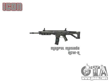 Máquina de Magpul Masada ACW-R icon3 para GTA 4 tercera pantalla