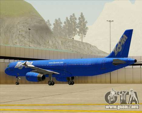 Airbus A321-200 Zoom Airlines para la vista superior GTA San Andreas