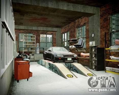 Garaje con nuevo interior Alcalina para GTA 4 décima de pantalla