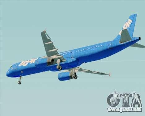 Airbus A321-200 Zoom Airlines para vista inferior GTA San Andreas