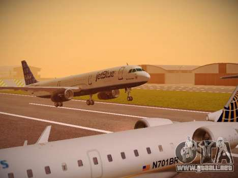 Airbus A321-232 jetBlue Blue Kid in the Town para GTA San Andreas left