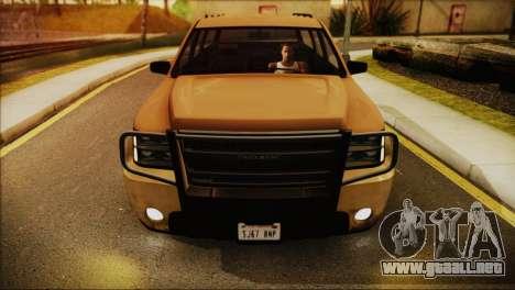 GTA 5 Granger para GTA San Andreas vista posterior izquierda