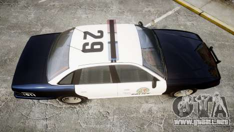 Vapid Police Cruiser GTA V LED [ELS] para GTA 4 visión correcta