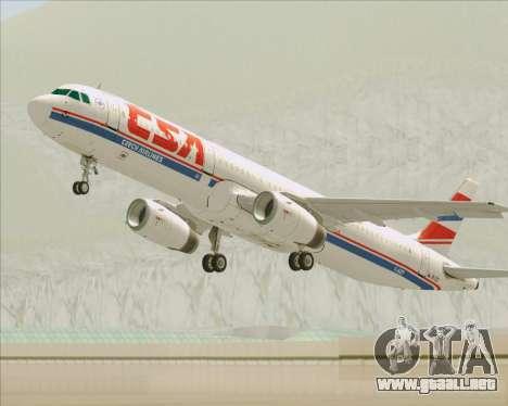 Airbus A321-200 CSA Czech Airlines para las ruedas de GTA San Andreas