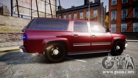 Chevrolet Suburban Undercover 2003 Black Rims para GTA 4 left