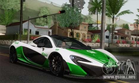 McLaren P1 HQ para GTA San Andreas interior